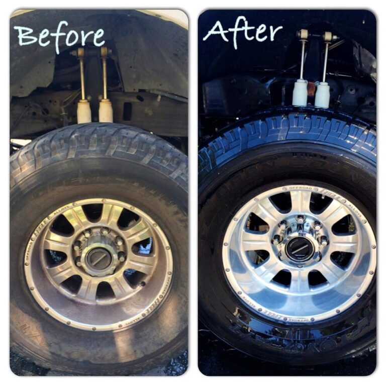 Exterior Tire Detail Before & After