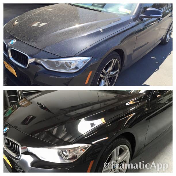 Before & After - Black BMW Exterior Detailing