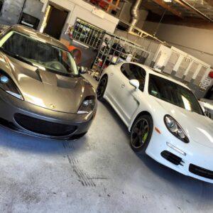 Lotus Evora & Porsche Panamera auto detail