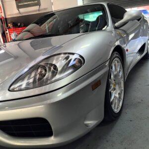 Silver Ferrari auto detailing - San Francisco