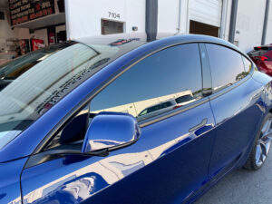 Tesla Chrome Delete Handles - Blue