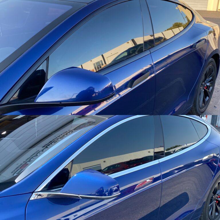 Tesla Chrome Delete - Door Handles