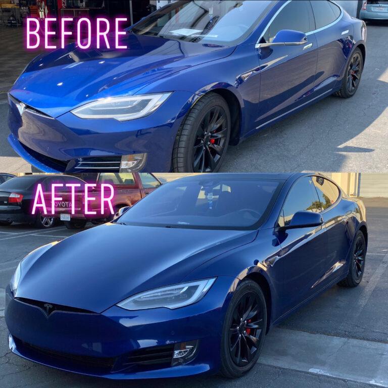 Tesla Chrome Delete - Front & Side