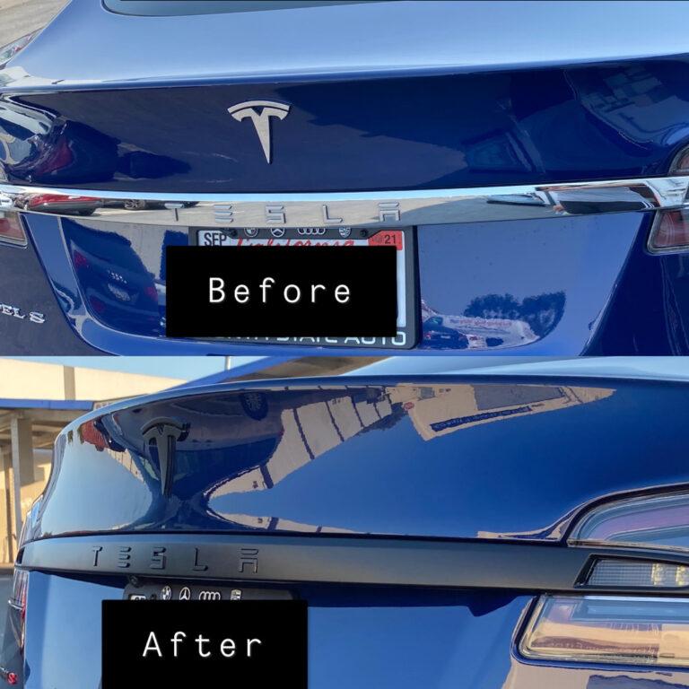Tesla Chrome Delete - Trunk