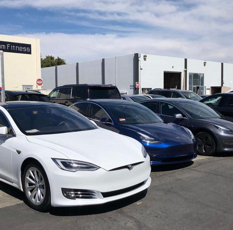 Tesla Fleet Vehicle Wraps & Ceramic Coating
