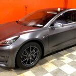 Tesla Satin Gray Wrap - Auto Pro Detailing