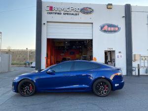 Tesla Chrome Delete Handles - Blue Auto Pro