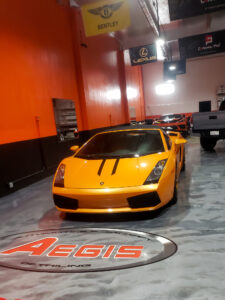 Lamborghini Gallardo full paint protection film wrap - Auto Pro Detailing
