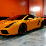 Lamborghini Gallardo vinyl wrap full paint protection film - auto pro detailing