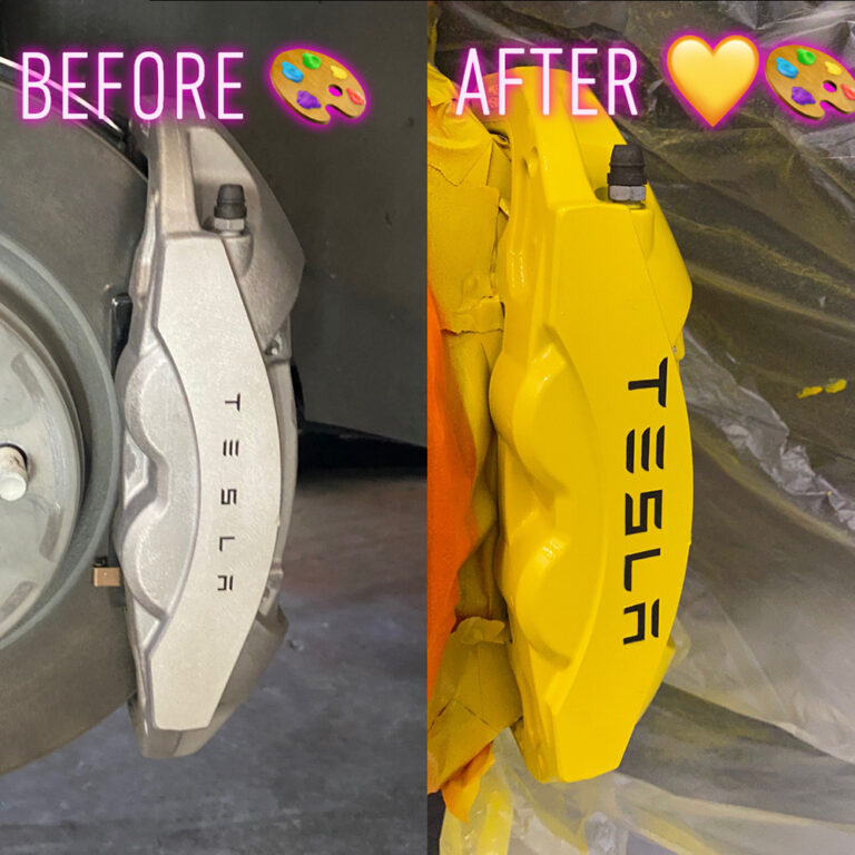 Tesla Caliper painting by Auto Pro Detailing