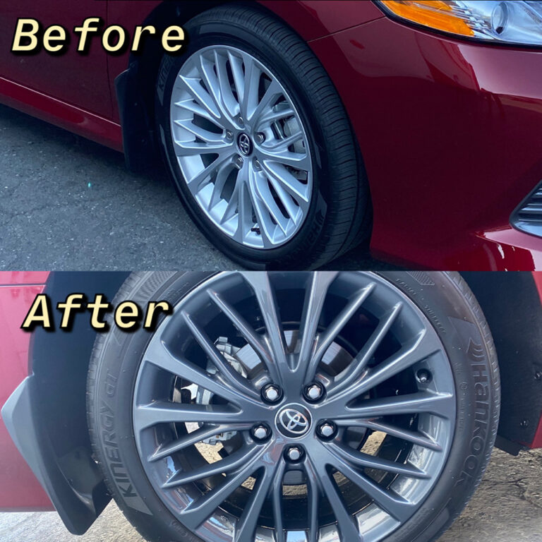 Toyota Chrome Delete Powder Coating