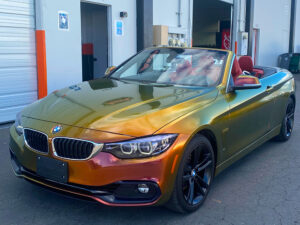 BMW Paint Protection Film chrome wrapping