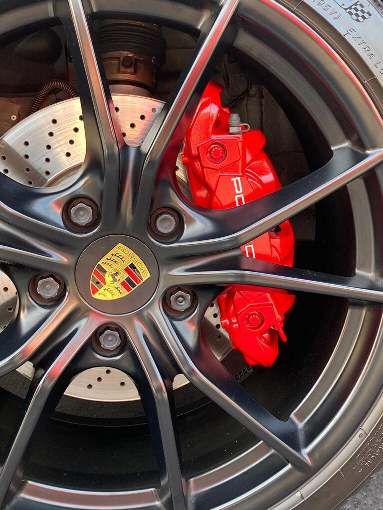 Porsche Caliper Painting - red