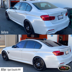 BMW Xpel Stealth PPF Wrap - before & after