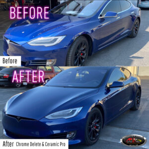 Tesla Chrome Delete & Ceramic Pro Coating