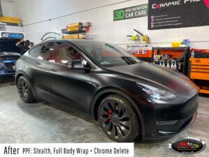 Tesla Stealth Wrap & Chrome Delete