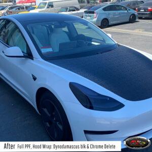 Tesla Vinyl Wrap & Chrome Delete
