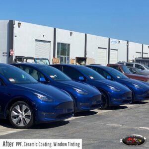 Tesla Fleet - PPF, ceramic coating & window tint
