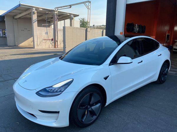 Tesla Chrome Delete - white Handles